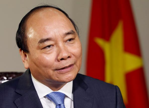 Vietnam's Prime Minister Nguyen Xuan Phuc is seen during an interview at the Government Office in Hanoi, Vietnam May 25, 2016. REUTERS/Kham