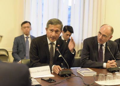 Italia-ASEAN: Presidente Letta e Vivian Balakrishnan, Singaporean Minister of Foreign Affairs