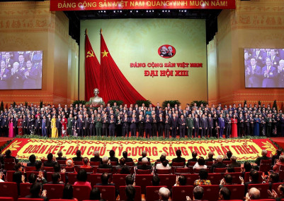 The 13th national congress of the ruing communist party of Vietnam in Hanoi